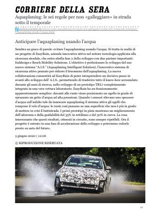 Easyrain AIS Aquaplaning Intelligent Solution